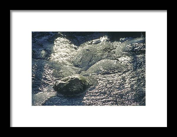 River Framed Print featuring the photograph The Stone by Patrick Kessler