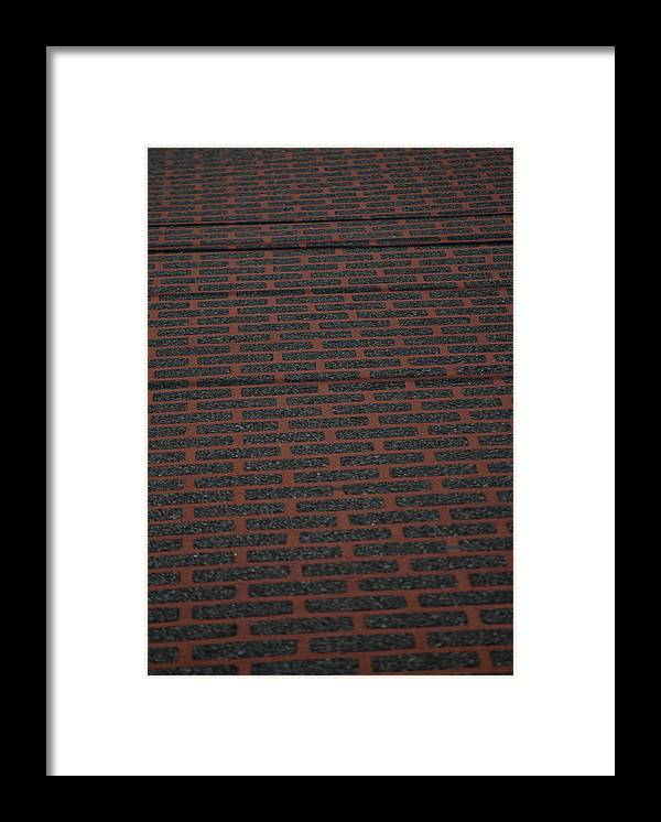 Texture Framed Print featuring the photograph The Street by Alan Grodin