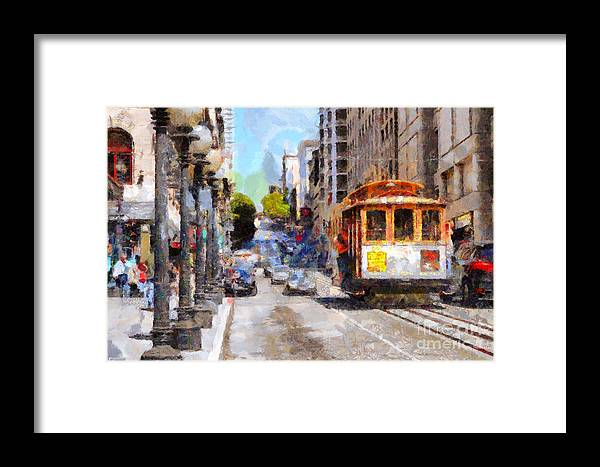 Sf Framed Print featuring the photograph The Streets Of San Francisco . 7d7263 by Wingsdomain Art and Photography