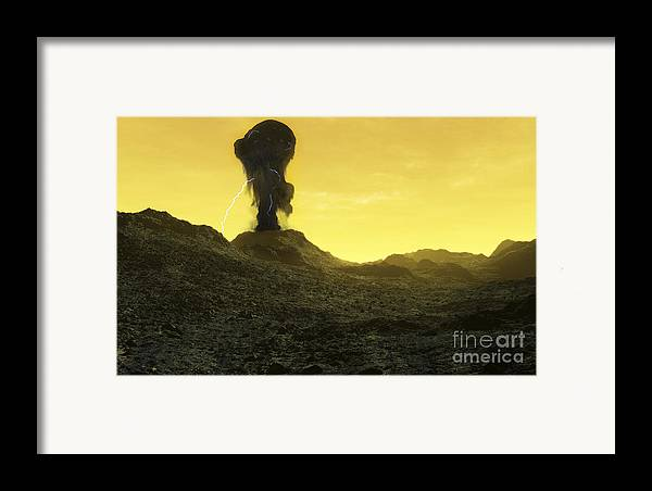 Venus Framed Print featuring the digital art The Surface Of An Infernal Planet by Fahad Sulehria