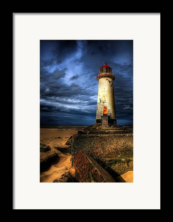 Beach Framed Print featuring the photograph The Talacre Lighthouse by Adrian Evans