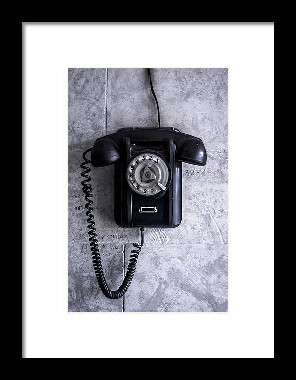 Telephone Framed Print featuring the photograph The Telephone. by Joshua Karthik Rallapati