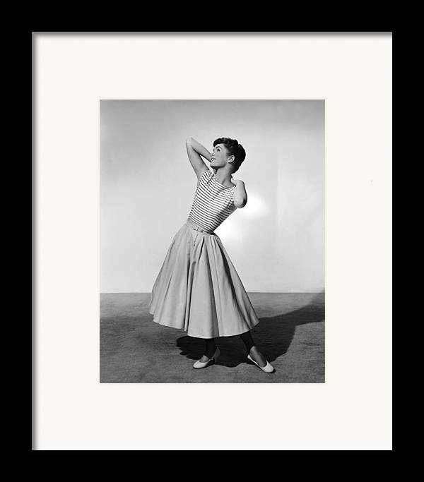 1950s Portraits Framed Print featuring the photograph The Tender Trap, Debbie Reynolds, 1955 by Everett