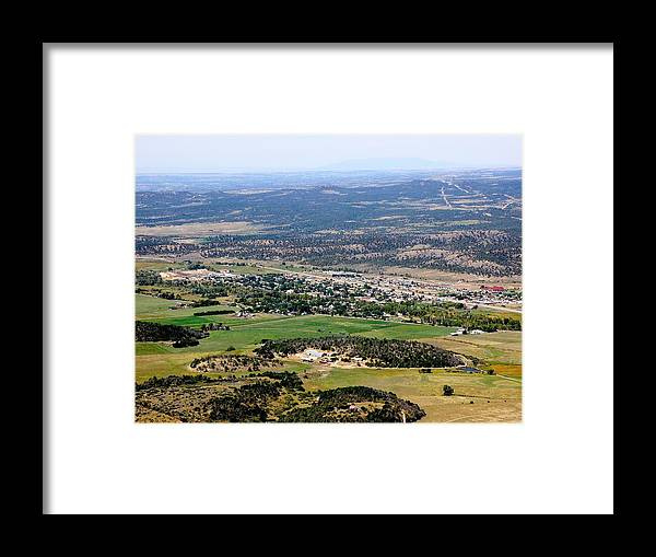 Mancos Framed Print featuring the photograph The Town Of Mancos by FeVa Fotos