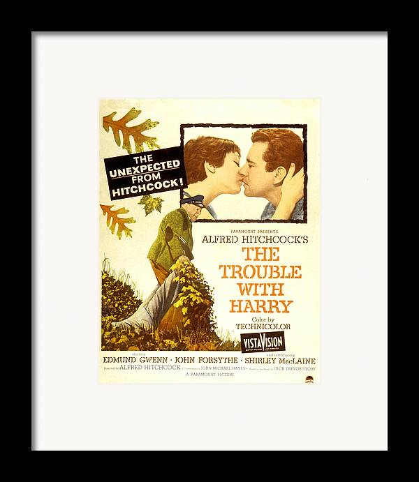 1950s Poster Art Framed Print featuring the photograph The Trouble With Harry, Shirley by Everett