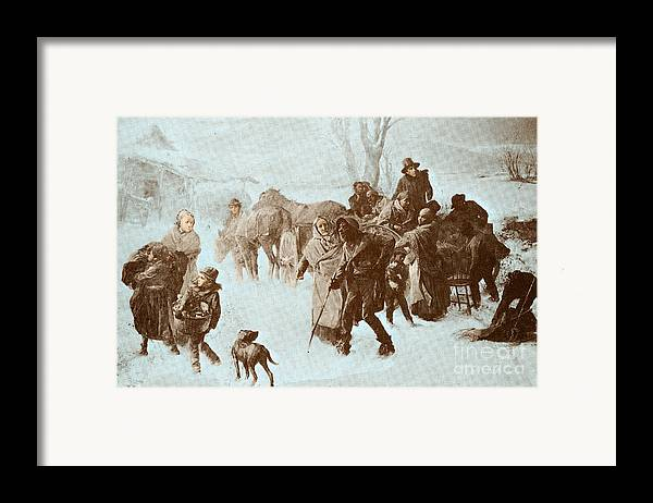 America Framed Print featuring the photograph The Underground Railroad by Photo Researchers