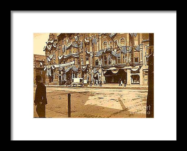 Shamokin Pa Framed Print featuring the painting The Vaudeville Theatre In Shamokin Pa Around 1910 by Dwight Goss