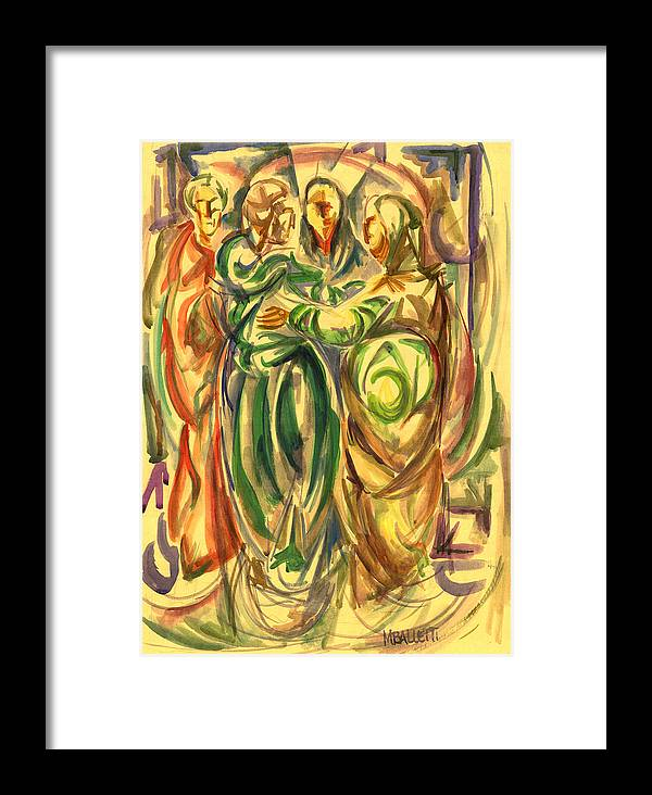 Maxballetti Ballettiartbook Fineartrome Fineartitaly Italian Contemporary Framed Print featuring the painting The Visitation by M Balletti
