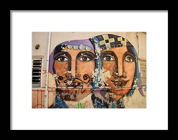Faces Framed Print featuring the photograph The Wall by Jurga Budryte