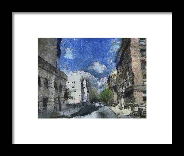 City Framed Print featuring the photograph The Walls Are Tumblin' by Trish Tritz