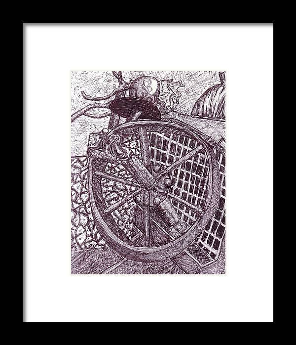 Pen Framed Print featuring the photograph The Wheel by Cecelia Taylor-Hunt