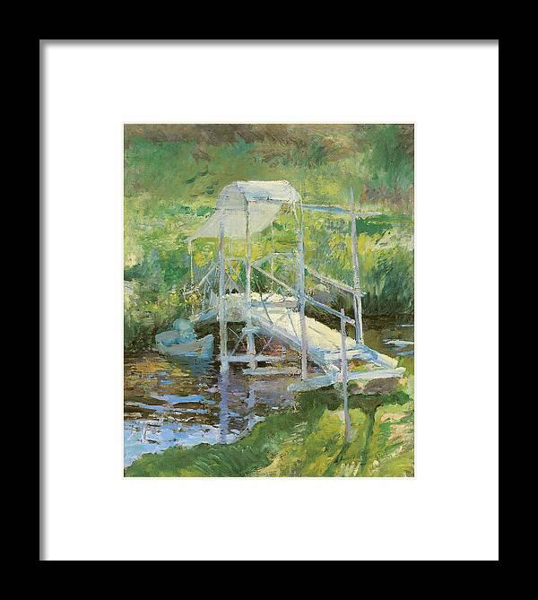 John Henry Twachtman Framed Print featuring the painting The White Bridge by John Henry Twachtman