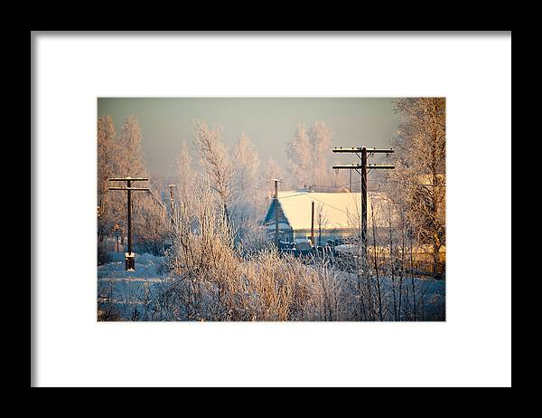 Winter Framed Print featuring the photograph The winter country by Nikolay Krusser