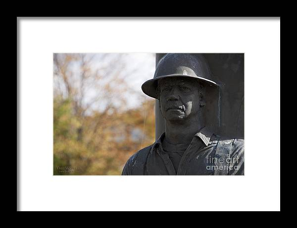 Memorial Framed Print featuring the photograph The Worker 3 by Larry Keahey