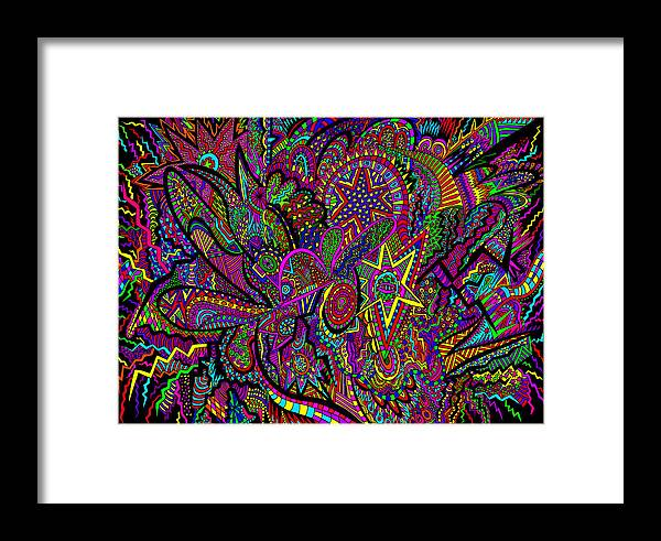 New Framed Print featuring the drawing The World Around Us by Karen Elzinga
