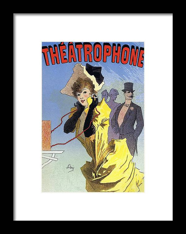 Theatrophone Framed Print featuring the photograph Theatrophone Poster by Cci Archives