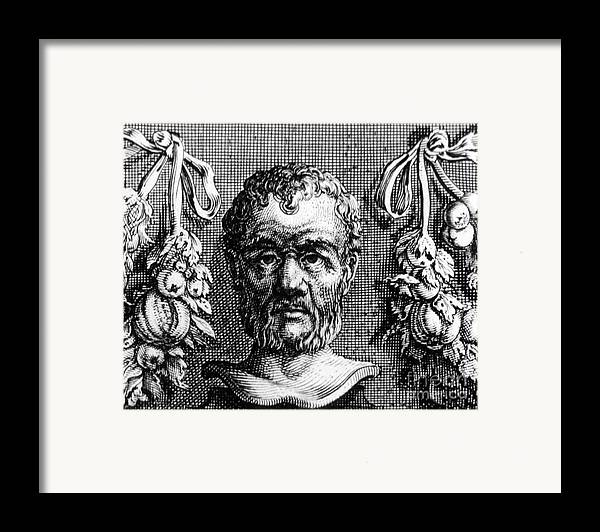Philosophy Framed Print featuring the photograph Theophrastus, Ancient Greek Polymath by Photo Researchers