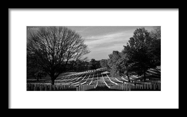 Cemetery Framed Print featuring the photograph They Gave All by Chris Berry