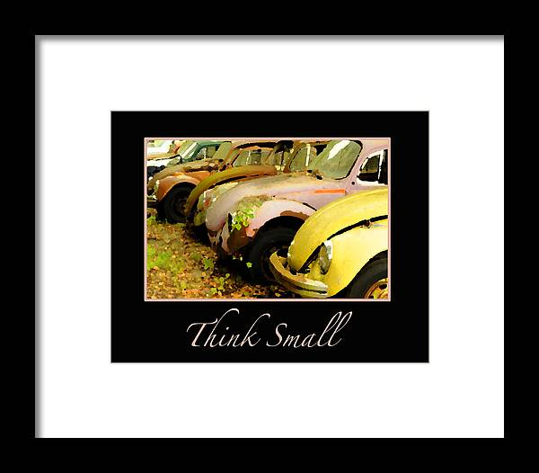 Vw Framed Print featuring the photograph Think Small by Nancy Greenland