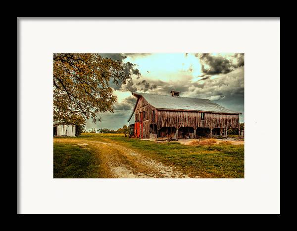 Barn Framed Print featuring the photograph This Old Barn by Bill Tiepelman