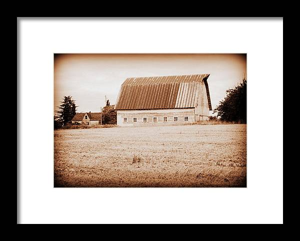 Barn Framed Print featuring the photograph This Old Farm II by Kathy Sampson