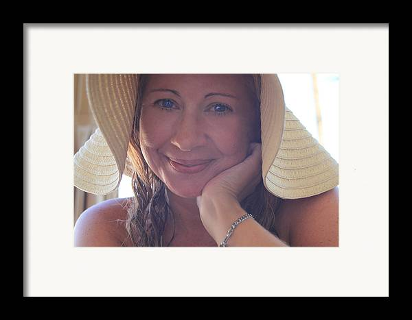 Woman Framed Print featuring the photograph This Smile Was For You by Laurie Search