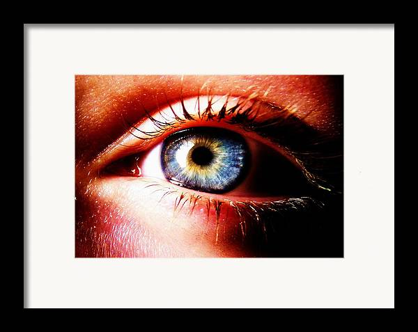Eye Framed Print featuring the photograph This Window To The Soul by Eleanor Bennett
