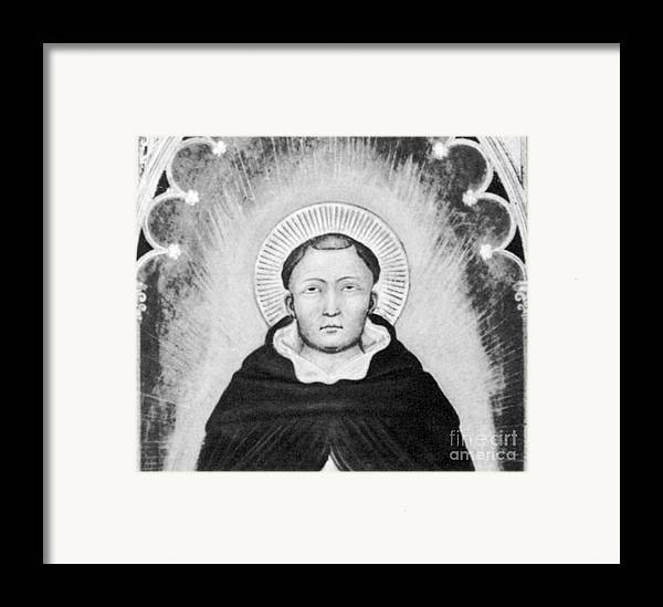 History Framed Print featuring the photograph Thomas Aquinas, Italian Philosopher by Science Source