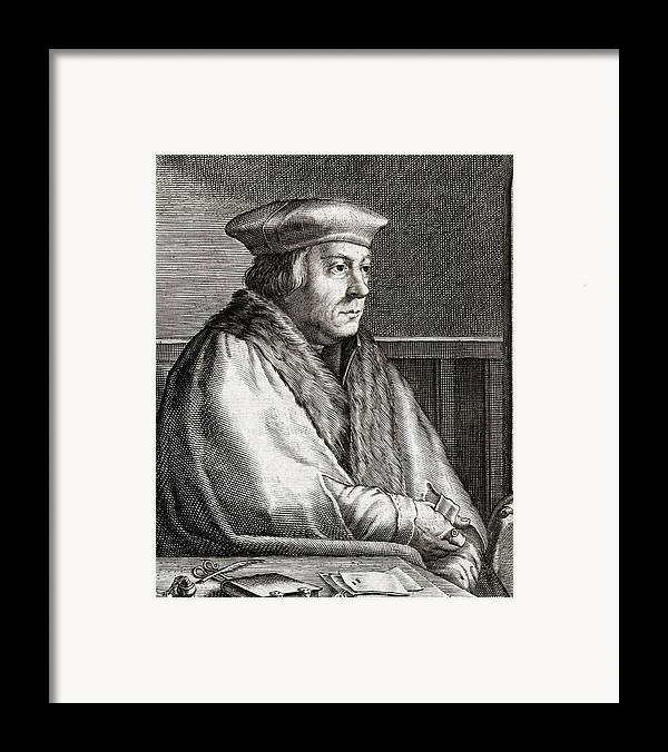 Thomas Framed Print featuring the photograph Thomas Cromwell, English Statesman by Middle Temple Library