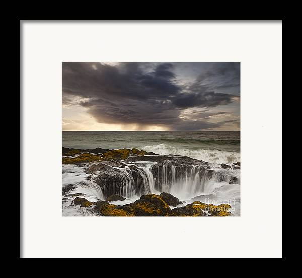 Coast Framed Print featuring the photograph Thor's Well by Keith Kapple