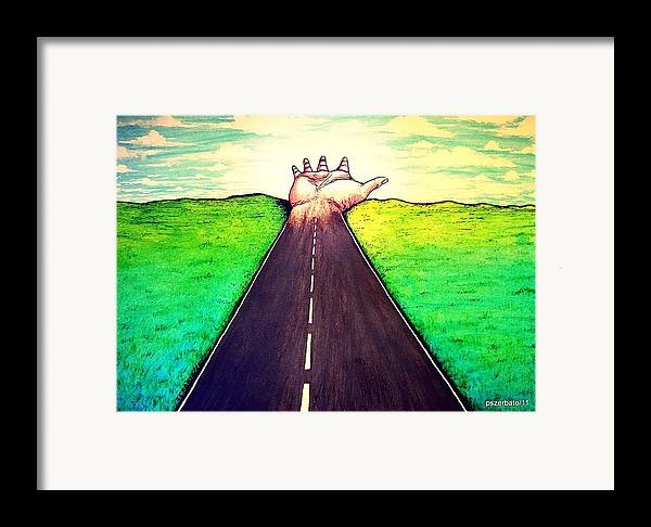 Those Who Walk The Way Framed Print featuring the digital art Those Who Follow The Way by Paulo Zerbato