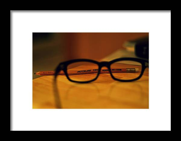 Eye Glasses Framed Print featuring the photograph Thoughts by Ammar Ibrahim