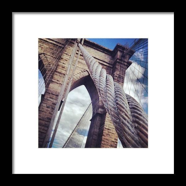 Blue Framed Print featuring the photograph Threading by Randy Lemoine