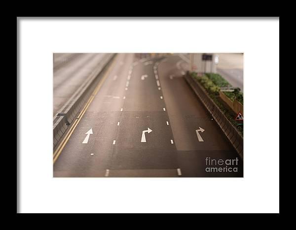 Arrows Framed Print featuring the photograph Three Lanes by Ei Katsumata