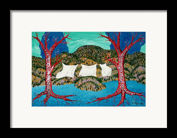 Trees Framed Print featuring the painting Three Sheets To The Wind by Randall Weidner