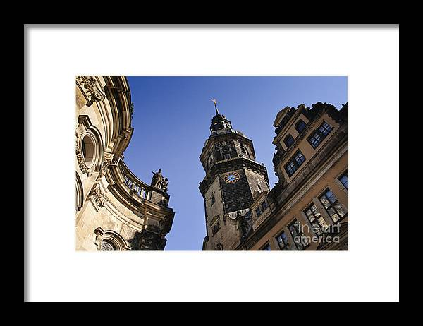 Architecture Framed Print featuring the photograph Threethirtynine by Katja Zuske
