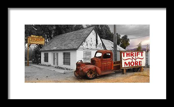 Retro Framed Print featuring the photograph Thrift And More by Dallas Clites