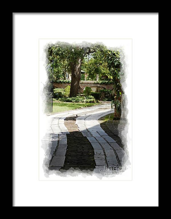Pathways Framed Print featuring the photograph Through The Gates 1 by Donna Bentley