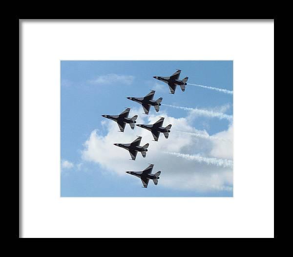 Thunderbirds Framed Print featuring the photograph Thunderbirds by Elizabeth Harshman