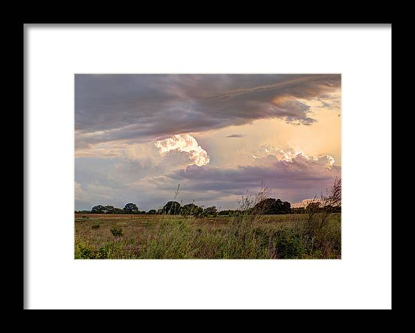 Clouds Framed Print featuring the photograph Thunderclouds by Beth Gates-Sully