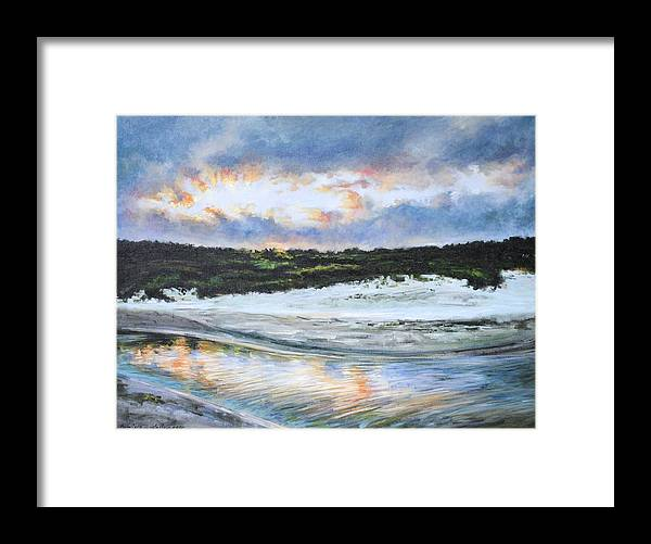 Seascape Framed Print featuring the painting Tidewater by Kim Karelson