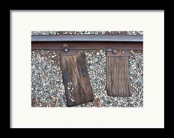 Railroad Framed Print featuring the photograph Ties by Dan Holm