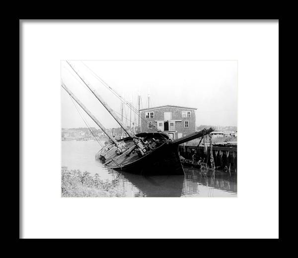 1930s Framed Print featuring the photograph Tilting Boat At Gloucester by Everett
