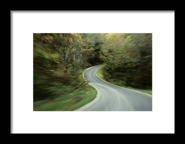 Outdoors Framed Print featuring the photograph Time-exposed View Of Route 49 Taken by Raymond Gehman