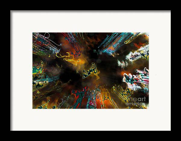 Abstract Framed Print featuring the photograph Time Flies by Jeff Breiman