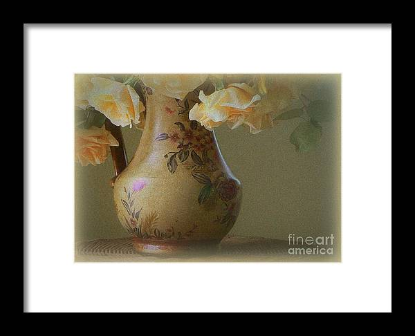 Rose Framed Print featuring the photograph Time In The Garden by Diana Besser