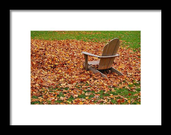 Autumn Framed Print featuring the photograph Time Out by Marcia Mello