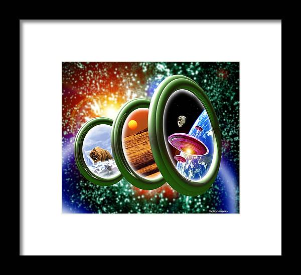 Conceptual Framed Print featuring the photograph Time Travel by Victor Habbick Visions
