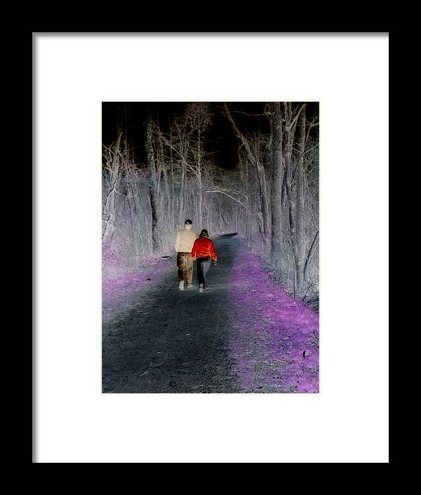 Couples Framed Print featuring the digital art Timeless Love II by Mario Bruno