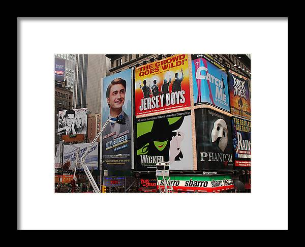 Broadway Framed Print featuring the photograph Times Square 7 by Andrew Fare